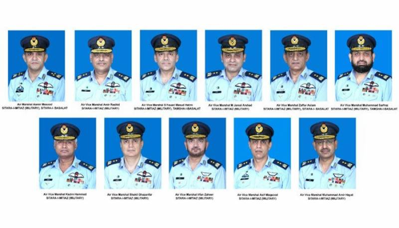 10 PAF officers promoted as Air Vice Marshal