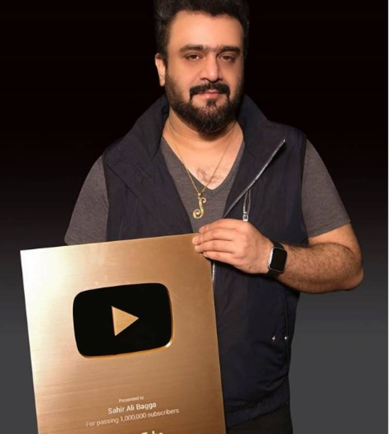 Singer Sahir Ali Bagga gets YouTube 'Gold play button'