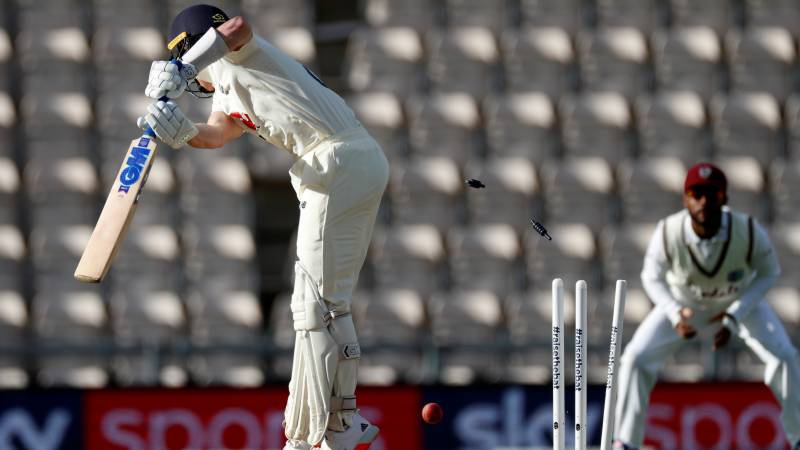 Windies' quicks strike as England collapse in first Test