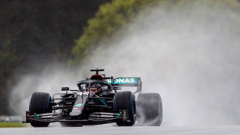 'Heart in my mouth': Rain king Hamilton storms to Styrian Grand Prix pole