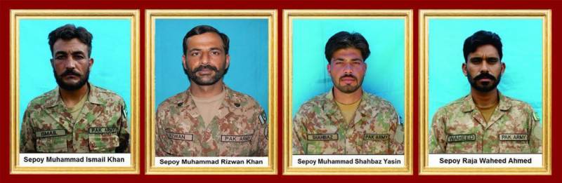 Four soldiers martyred, 4 terrorists killed in Miranshah
