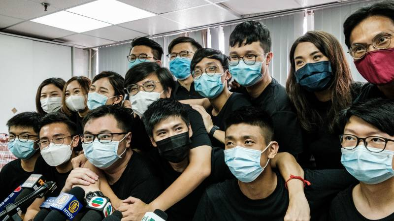 Young Hong Kongers vow to take on Beijing after primary success