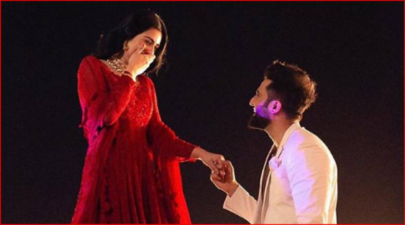 TV actress Sarah Khan gets engaged to singer Falak Shabbir