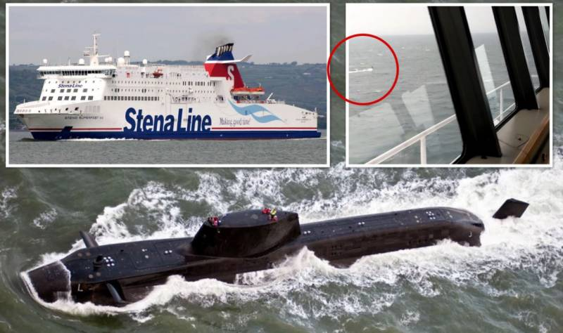 British Royal Navy sub in near-miss with passenger ferry