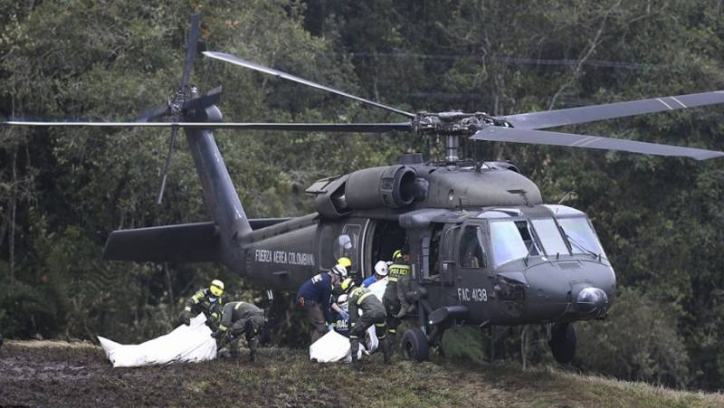 11 missing, 6 injured in Colombian military helicopter crash