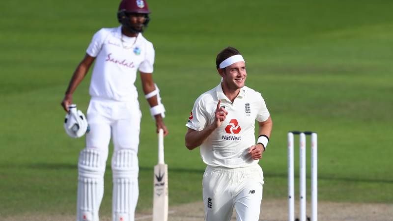 Broad, Burns star as England set West Indies 399 to win series finale