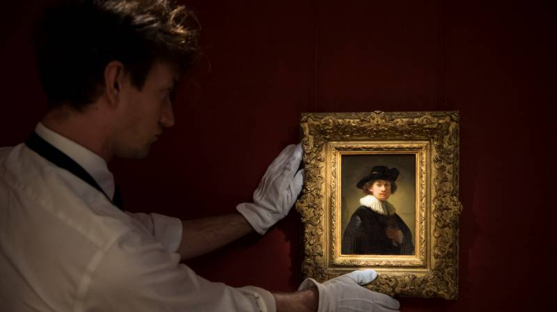 Rare Rembrandt goes on sale at UK auction