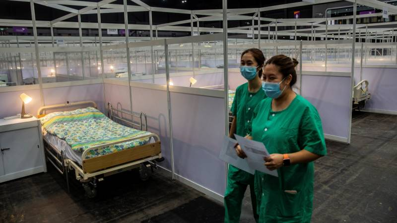 Hong Kong opens makeshift hospital for COVID-19 patients