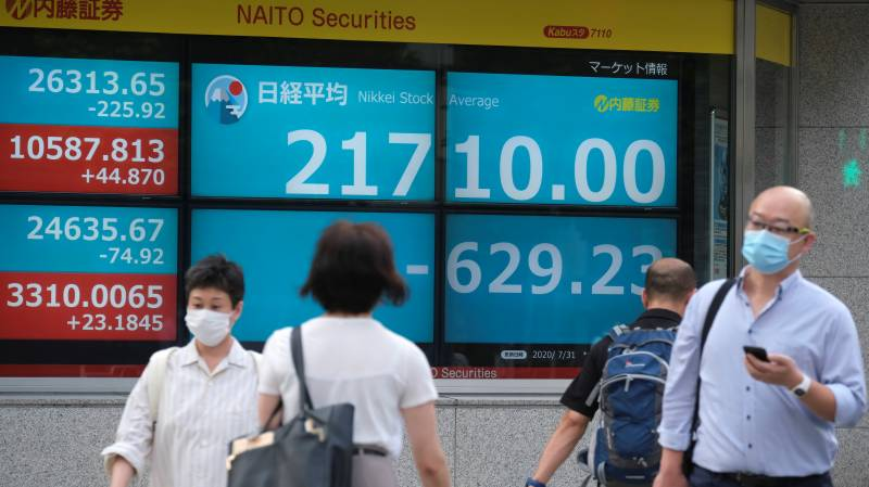 Markets mostly down as virus forces new lockdowns