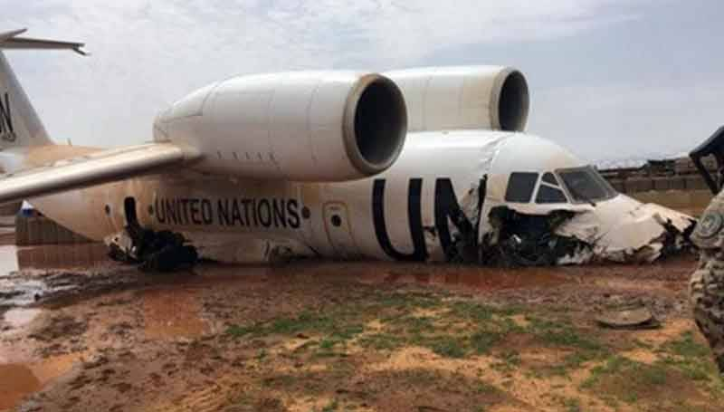 11 injured in failed landing of UN plane in Mali