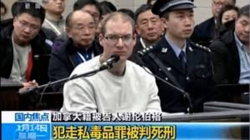 China sentences Canadian to death over drug charge