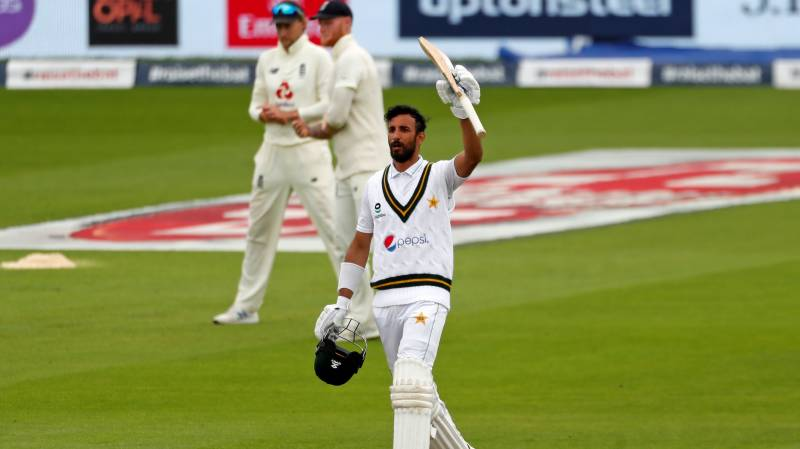 England collapse after Shan Masood century puts Pakistan on top