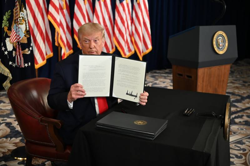 Trump signs orders extending economic relief for Americans