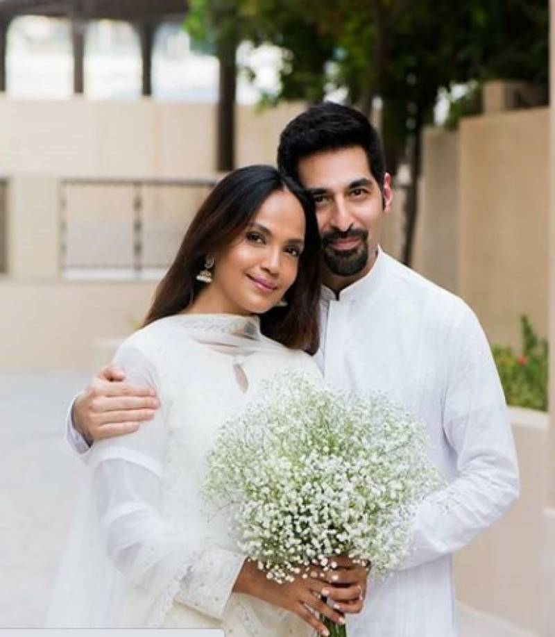 Aamina Sheikh shares first photo with husband