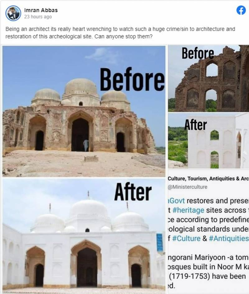 Imran Abbas lashes out at govt's efforts for ancient sites restoration