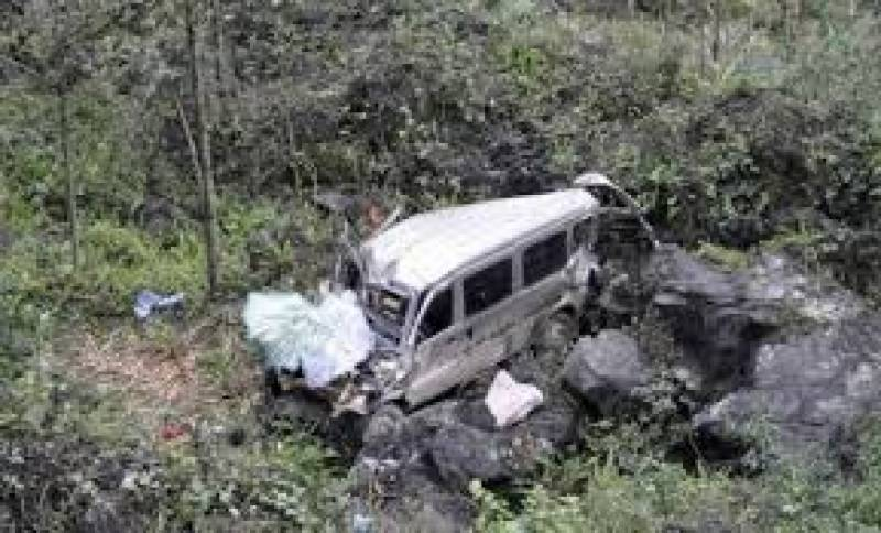 Three die as pickup falls into ravine