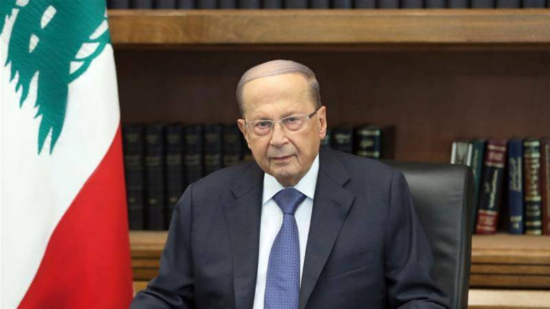 Lebanon president hedges over eventual peace with Israel