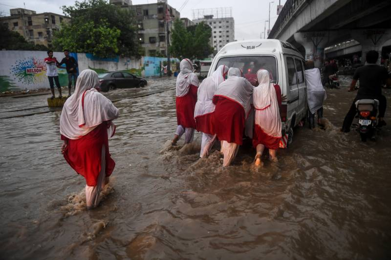 Karachi paralysed as 173mm of rain in one hour sinks Surjani Town
