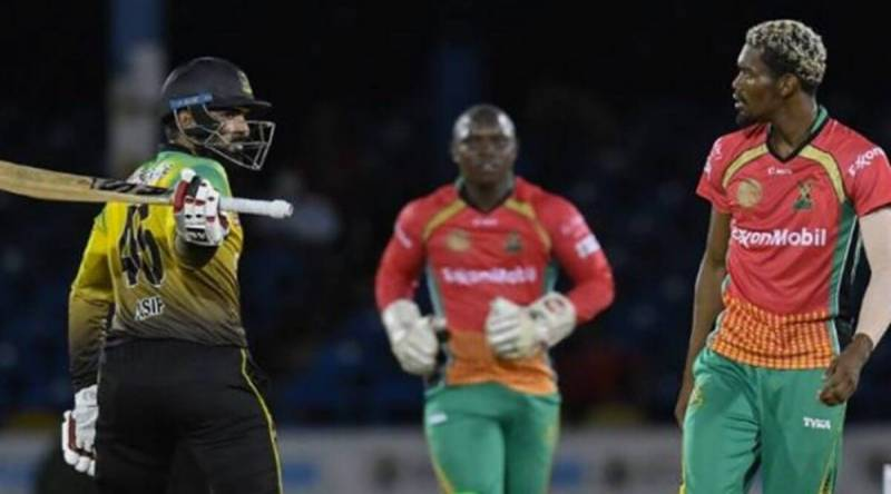 Asif Ali fined 20% match fee for trying to hit Keemo Paul with bat in CPL