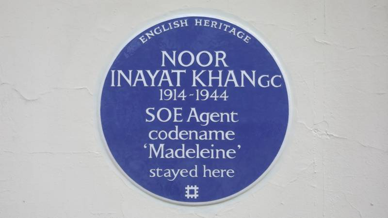 London Blue Plaque honour for Indian 'spy princess'