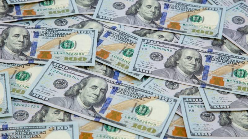 Dollar down by two rupees in open market