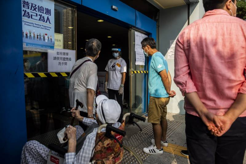 Hong Kong rolls out mass testing as virus continues US spread