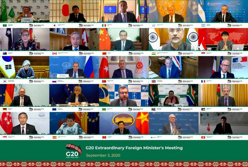 G20 foreign ministers discuss easing travel restrictions