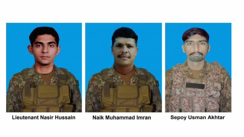 Lieutenant, two soldiers embrace martyrdom in NW