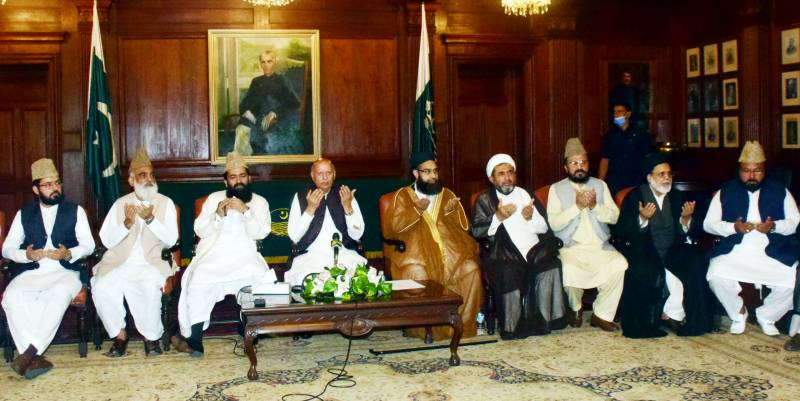 Governor Punjab meets religious scholars delegation led by Maulana Tahir Ashrafi