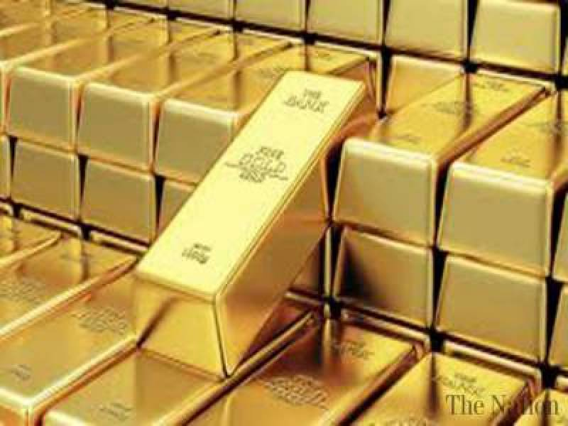 Gold price down by Rs1,500 per tola in Pakistan