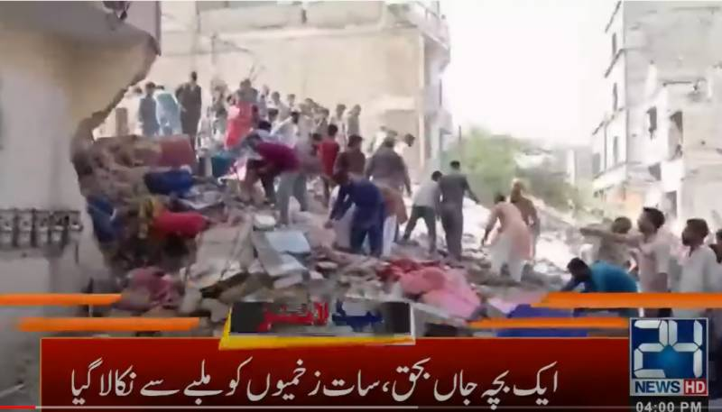 Another residential building collapsed in Karachi