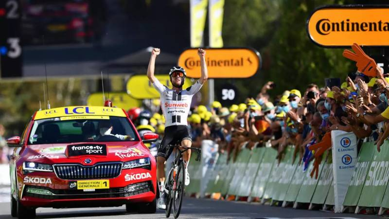 Tour de France nearly man Hirschi tastes victory at last