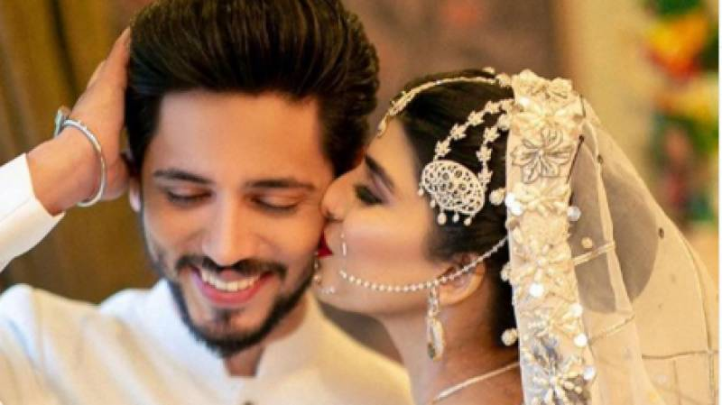 TV host Ahmed Godil ties knot with Asra, photos go viral