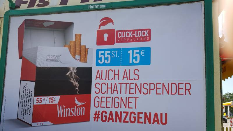 Germany to ban cigarette street ads from 2022