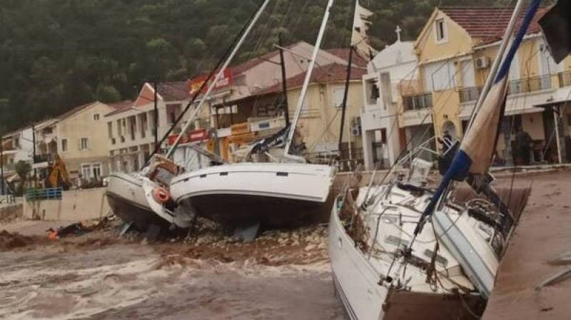 Two killed in hurricane-like storm in Greece