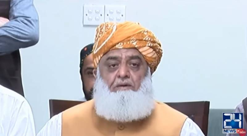 JUI-F chief resolves again to overthrow PTI-led government