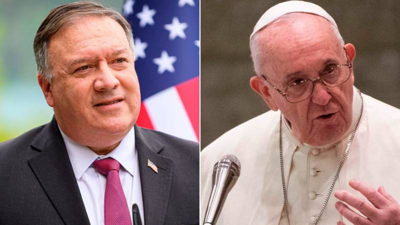 Pompeo calls for pope to show 'courage' over China