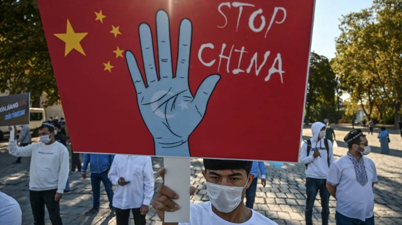 Hundreds protest in Istanbul against China's Uighur treatment