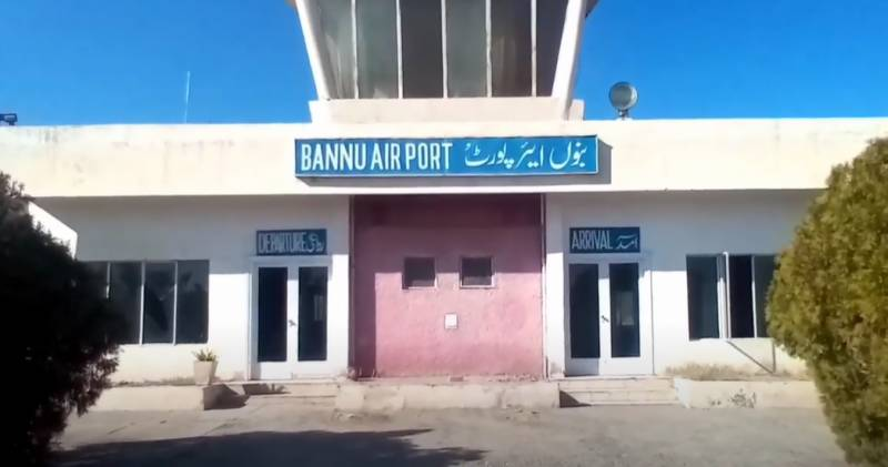 No plane landed at Bannu Airport since 1999