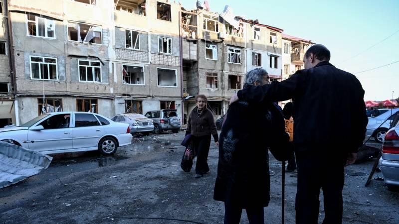 Sorrow and pride as Karabakh capital comes under fire