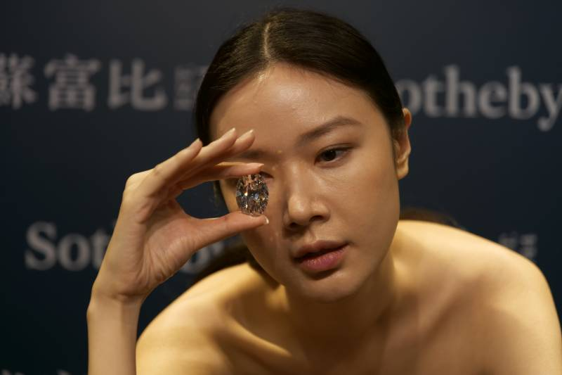 Rare flawless diamond fetches US$15.7m in Hong Kong auction