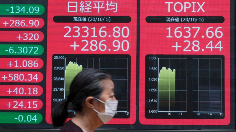 Asian markets rally on Trump health, stimulus hope
