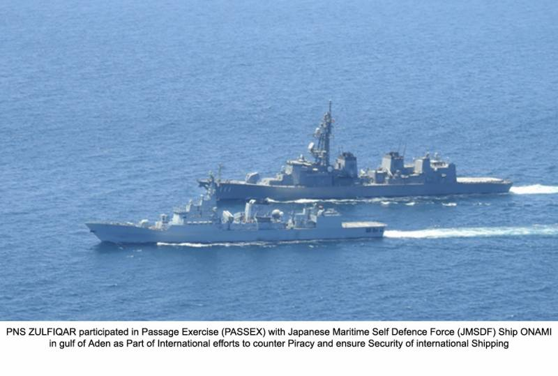 Pak, Japan naval ships take part in Passage Exercise