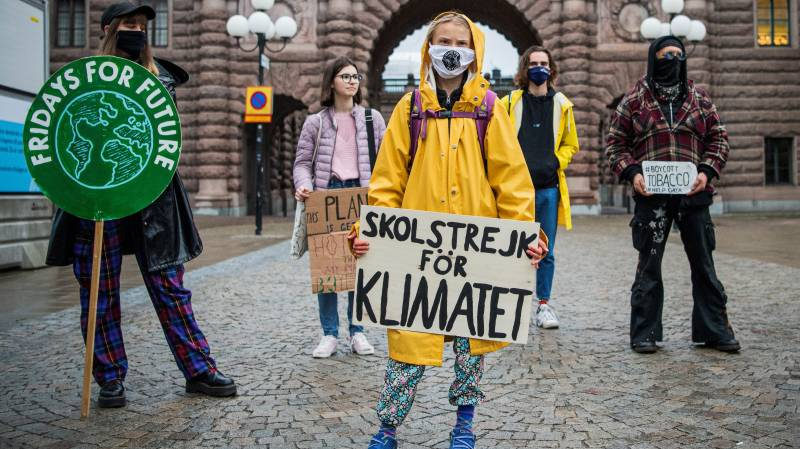 Greta Thunberg urges US voters to pick Biden for fight climate change
