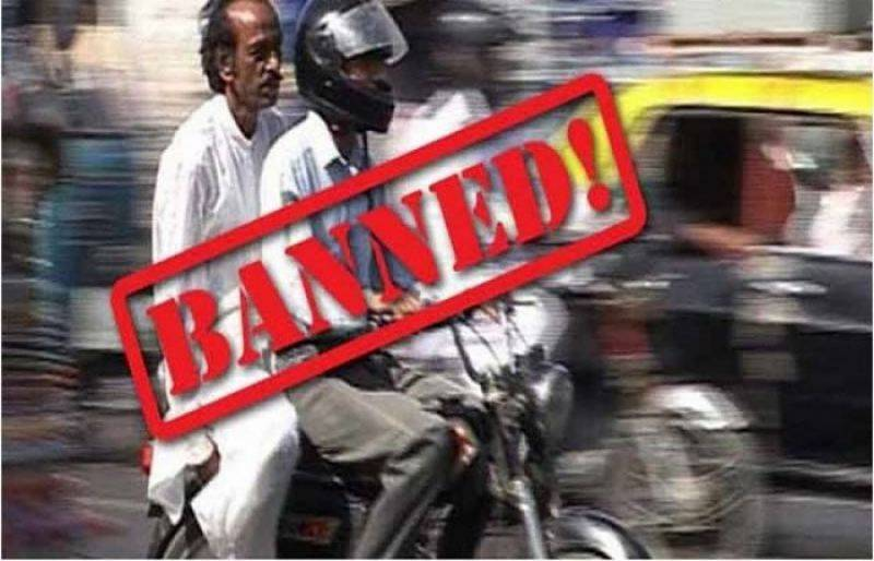 Pillion-riding banned for one month in Karachi