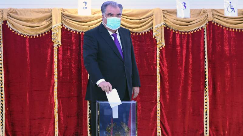 Tajikistan's strongman leader wins re-election