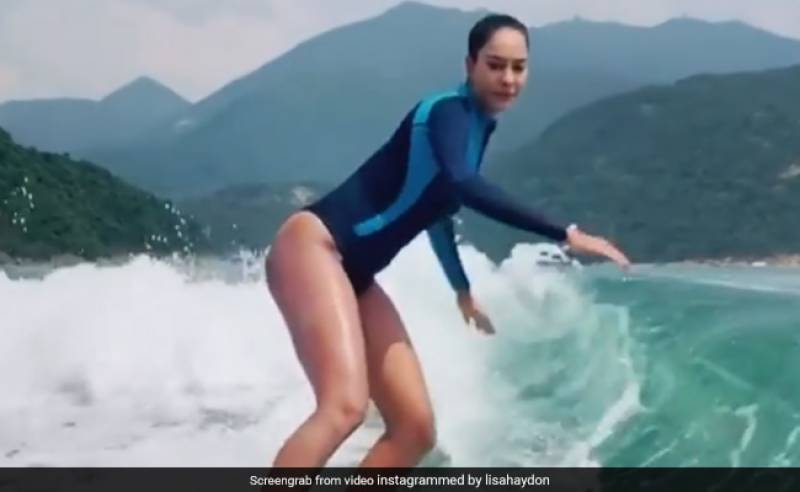 Actress Lisa madly in love with sea surfing