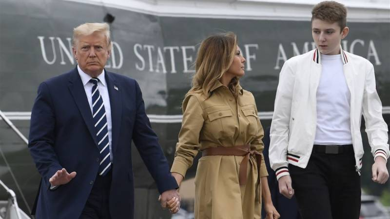 Trump's son Barron contracted Covid-19, now negative: first lady Melania
