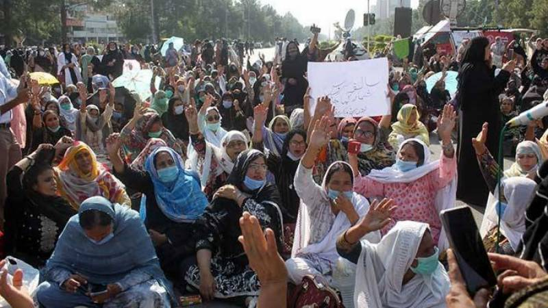Protesting lady health workers to march on Parliament House