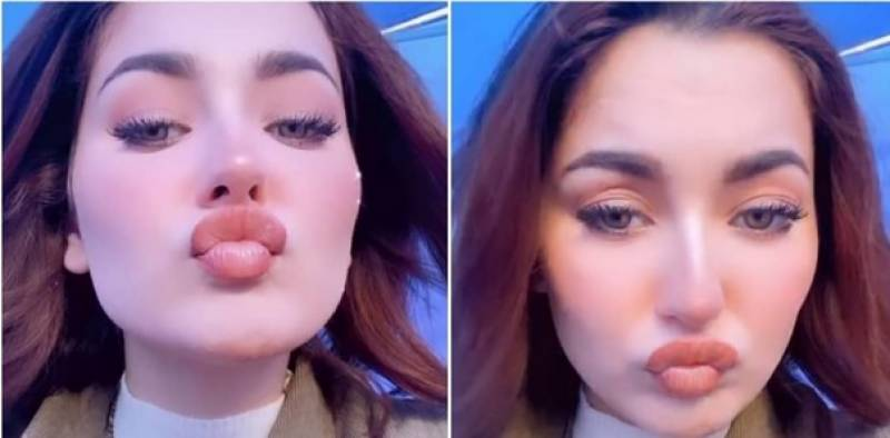 Hania Aamir tells the secret about her big rosy lips